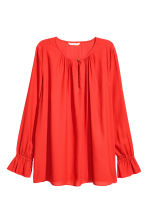 Long-sleeved blouse - Red - Ladies | H&M 2