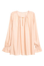 Long-sleeved blouse - Powder - Ladies | H&M 2