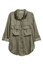 Utility shirt - Khaki green - Ladies | H&M CN 2