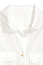 Utility shirt - White - Ladies | H&M CN 3