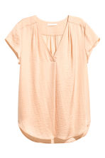 V-neck blouse - Powder - Ladies | H&M CN 2