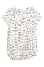 V-neck blouse - White/Spotted -  | H&M 2