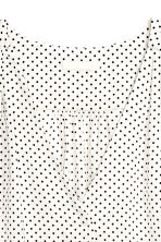 V-neck blouse - White/Spotted -  | H&M 3