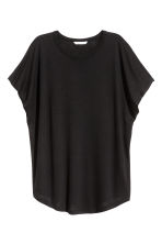 Top with cap sleeves - Black - Ladies | H&M 2