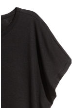Top with cap sleeves - Black - Ladies | H&M 3