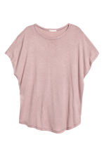 Top with cap sleeves - Light heather pink - Ladies | H&M GB 2