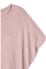 Top with cap sleeves - Light heather pink - Ladies | H&M 3