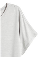 Top with cap sleeves - Light grey - Ladies | H&M 3