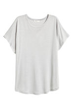 Top with cap sleeves - Light grey - Ladies | H&M 2