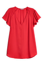 V-neck blouse - Red - Ladies | H&M 2
