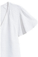 V-neck blouse - White/Spotted - Ladies | H&M 3