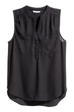Sleeveless top - Black - Ladies | H&M CN 2