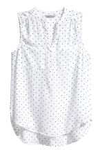 Sleeveless top - White/Spotted - Ladies | H&M CN 2