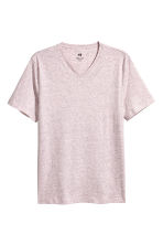 V-neck T-shirt Regular fit - Light pink marl - Men | H&M 1