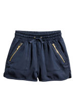 Lyocell shorts - Dark blue - Kids | H&M 2