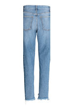 Straight Regular Trashed Jeans - Denim blue - Ladies | H&M CN 4