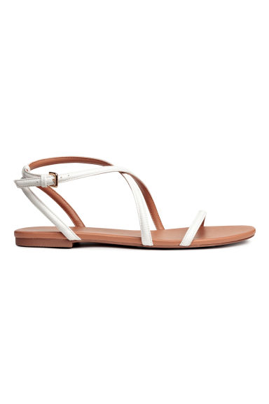 Sandals - White - Ladies | H&M CN
