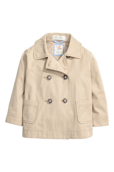 Double-breasted jacket - Beige - Kids | H&M CA