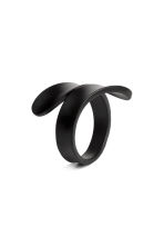 Metal wrapover ring - Black - Ladies | H&M CN 1