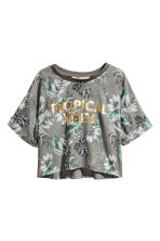 Cropped top - Khaki green - Kids | H&M 2
