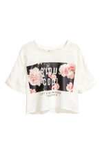 Cropped top - White - Kids | H&M CN 2