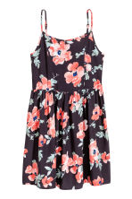 Patterned dress - Dark grey/Floral -  | H&M CN 2