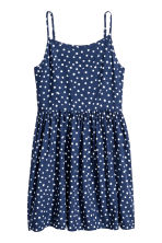 Patterned dress - Dark blue/Spotted -  | H&M CA 2