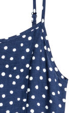 Patterned dress - Dark blue/Spotted -  | H&M CA 3