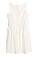 Embroidered cotton dress - White - Kids | H&M CN 2