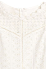 Embroidered cotton dress - White - Kids | H&M 3