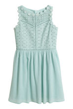 Embroidered cotton dress - Mint green - Kids | H&M 2