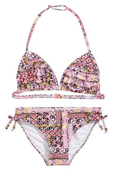 Triangle bikini - Purple/Patterned - Kids | H&M CN