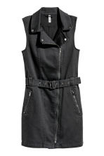 Twill biker dress - Black - Ladies | H&M 2