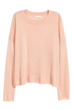 Fine-knit jumper - Powder pink - Ladies | H&M GB 2
