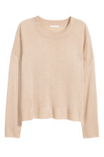 Fine-knit jumper - Light beige - Ladies | H&M CN 2