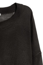 Fine-knit jumper - Dark grey - Ladies | H&M 3