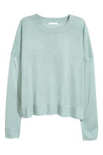 Fine-knit jumper - Light turquoise - Ladies | H&M CN 2