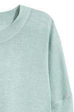 Fine-knit jumper - Light turquoise - Ladies | H&M CN 3