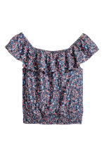 Off-the-shoulder blouse - Dark blue/Floral - Kids | H&M 2