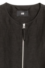 Linen-blend bomber jacket - Black - Men | H&M CN 3