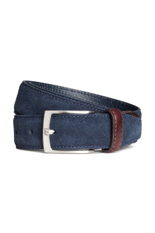 Narrow suede belt
