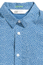 Short-sleeved easy-iron shirt - Blue/Spotted -  | H&M CN 3