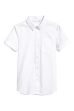 Short-sleeved easy-iron shirt - White - Kids | H&M 2