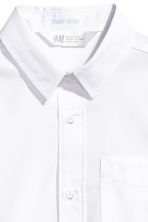 Short-sleeved easy-iron shirt - White - Kids | H&M 3