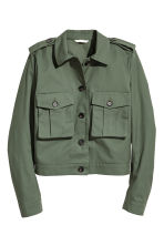 Short cargo jacket - Dark green - Ladies | H&M GB 2