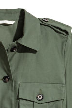 Short cargo jacket - Dark green - Ladies | H&M CN 3