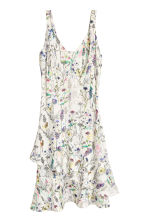 Crêpe dress - Natural white/Floral - Ladies | H&M 2