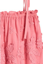 Embroidered top - Pink/Floral - Ladies | H&M CN 3