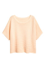 Textured short-sleeved jumper - Light apricot - Ladies | H&M 2