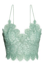 Lace bustier - Mint green - Ladies | H&M 2